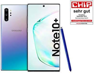 Samsung Galaxy Note 10+ Smartphone Bundle (17.2cm (6.8 Zoll) 256GB interner Speicher, 12GB RAM, Dual SIM, Android) Aura Glow inkl. 36 Monate Herstellergarantie [Exklusiv bei Amazon] Deutsche Version