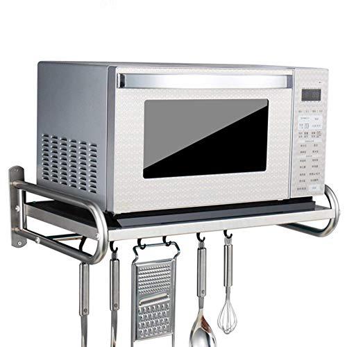 Acciaio Inossidabile 304 Mensole Micro onde Forno con Ganci, Supporto a Parete da Cucina,Capacità...