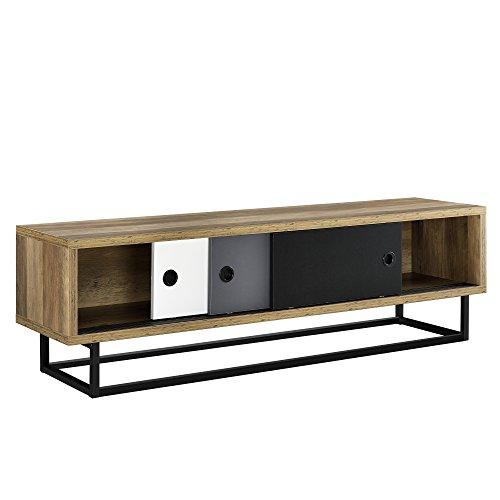 [en.casa] Mobile TV - Con porte scorrevoli in diversi colori - 140cm x 35cm x 41cm