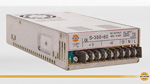 Act GmbH 1AXIS CNC Kit NEMA34Stepper Motor 34HS1456Stepper Motor 5.6a 116mm 8.4N.m + 1pc Power Supply 350W 60V 1pc Breakout Board and Cable 24+ 1pcs DM860–Driver 80VDC 6A 256Micro Steps