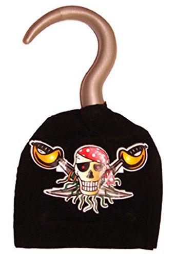 mágica Clown–Piratas Disfraz azada gancho de mano accesorios Calavera parches, multicolor