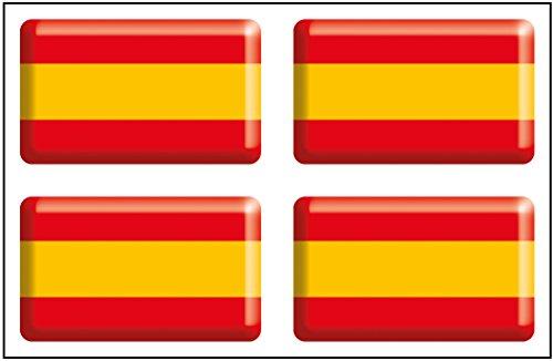 Artimagen Pegatina Bandera Rectángulo 4 uds. España Resina 30x18 mm/ud.