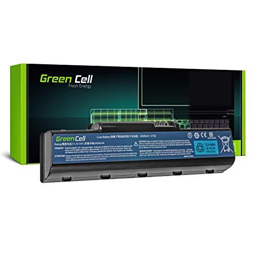 Green Cell® Standard Serie AS09A31 AS09A41 AS09A51 AS09A71 Batería para Acer / eMachines / Packard Bell / Gateway Ordenador (6 Celdas 4400mAh 11.1V Negro)