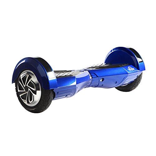 M MEGAWHEELS Gyropode Electrique 8 Pouces Hoverboard Tout Terrain Auto-équilibrage Bluetooth Pneu à LED et Sac de Transport pour Enfant et Adulte (Blue-Black)