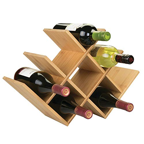 mDesign Scaffale per Bottiglie di Vino e Birra - Pratico portabottiglie in Legno - Organizer in...