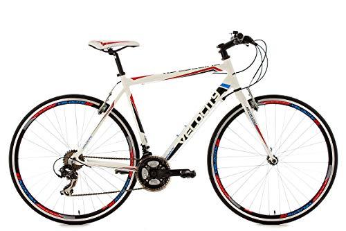 """KS Cycling Fitnessbike Alu-Rahmen 28"""" Velocity 21-Gänge weiß RH53cm"""