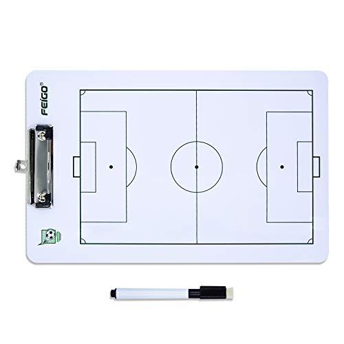 FEIGO Lavagna Tattica di Calcio, 40 × 24CM Pannello Tattico con Penna per Formazione, Concorrenza -...