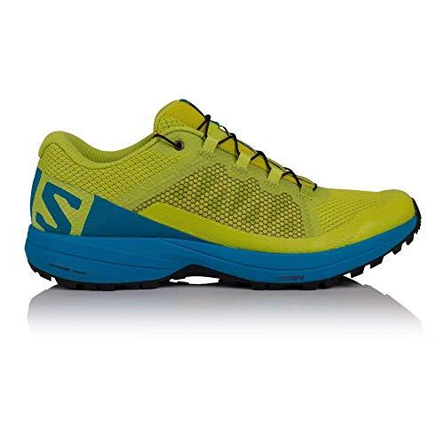 Salomon XA Elevate, Zapatillas de Trail Running para Hombre, Verde (Acid Lime/Hawaiian Surf/Black 000), 44 2/3 EU