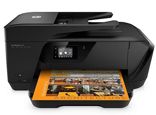 HP OfficeJet 7510 Stampante All-In-One, Grandi Formati, Stampa/Copia/Scansione/Fax, 4800x1200, Nero