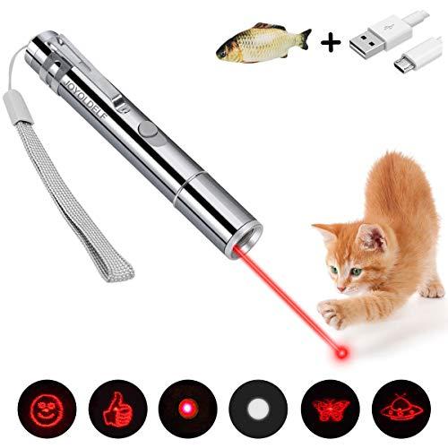 joyoldelf Giocattoli per Gatti e Cani con Ricarica USB 6 in 1 Funzione Gioco Interattivo...