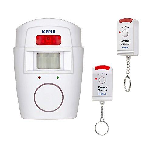 KERUI - Alarme sans fil Infrarouge Détecteur de Mouvement Sirène 105 dB...