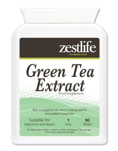 Zestlife Estratto di tè verde (1000mg - 90 compresse) * NEW introduttivo prodotto Offerta Speciale * alto contenuto di antiossidanti ; Perdita di peso;