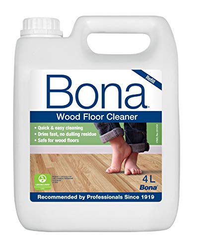 Bona Wood Floor Cleaner, 4 litri di ricarica di detergente per Bona Spray Mop