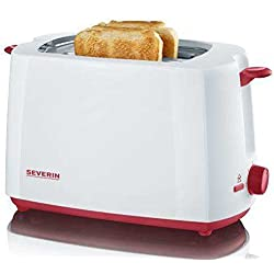SEVERIN AT 9940 Toaster, weiß/rot