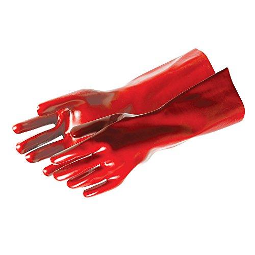 SILVERLINE Rosso PVC Guanti da lavoro