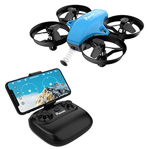 Potensic Drone con Telecamera Mini Drone Telecomando Quadricottero WiFi Funzione Sospensione...