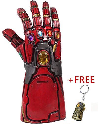 Rosso Guanto dell'Infinito Iron Man con Portachiavi Gratuito di Infinity Gauntlet Bonus Avengers...