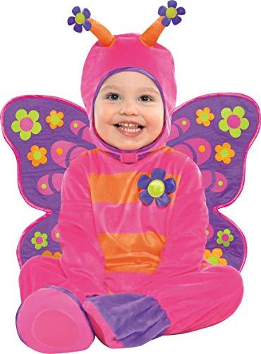 Amscan International Revestimiento trajes Carnaval Flutterby Mariposa Mariposa 12-18 lun