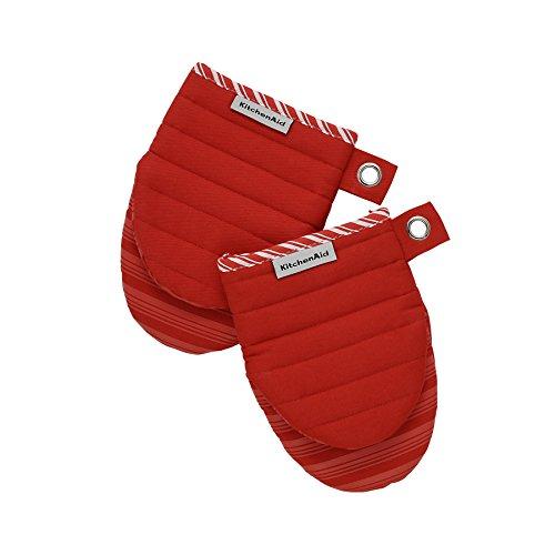 KitchenAid 1Coppia Guanto da forno Rosso silikonbeschichtet Mini Mitt