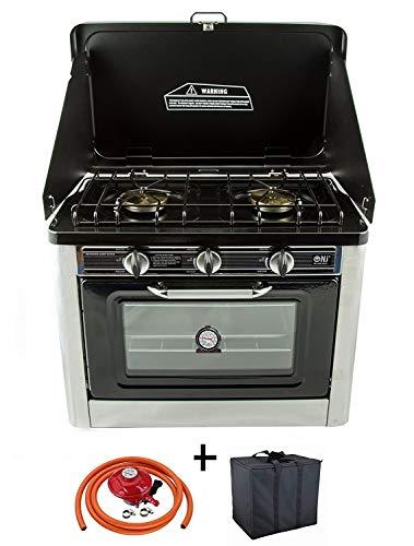 Cucina a Gas 2 luci con fornello da campeggio di acqua calda sanitaria con coprire forno cucina a...