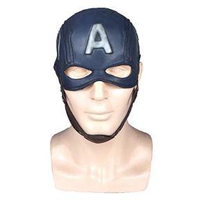 Hope Avengers 4: Capitán América Máscara Cosplay de Halloween Adultos Niños Latex Casco Completo Casco Máscaras Accesorios de Fiesta de Disfraces,Blue-OneSize