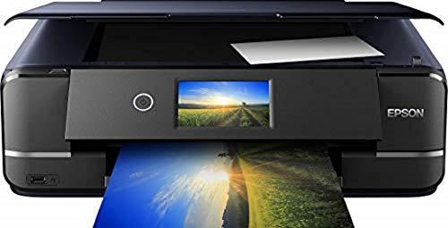 Epson Expression Photo XP-970 3-in-1 Tintenstrahl-Multifunktionsgerät Drucker (Scanner, Kopierer, WiFi, Ethernet, Duplex, 10,9 cm Touchscreen, Einzelpatronen, 6 Farben, DIN A3) schwarz