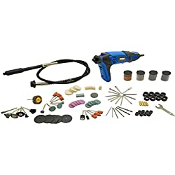 HERZO Multifunktionswerkzeug 170W mit 190 Zubehör,Biegsamer Welle, Werkzeugkoffer