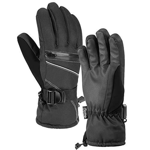 Guanti da sci, guanti invernali da uomo Fazitrip 3M Thinsulate, guanti impermeabili, con funzione...