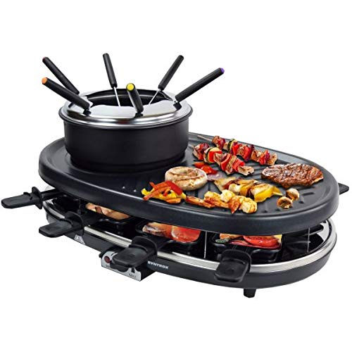Syntrox Germany 3 in 1 Raclette-Grill-Fondue Appenzell für 8 Personen