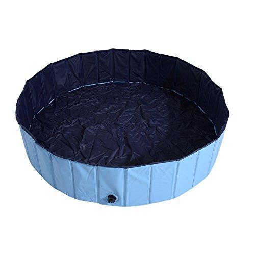 PawHut Piscina Vasca da Bagno Portatile Pieghevole per Cani Animali Domestici in PVC Φ140 x 30cm...
