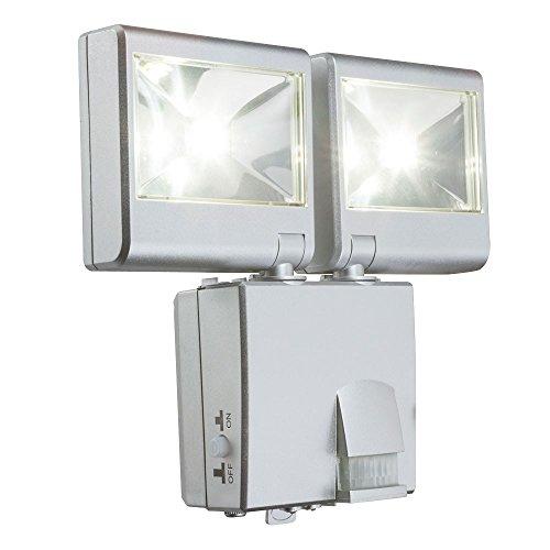 LED Aussen Wand Lampe Spots Beweglich Strahler Fluter IP44 Bewegungsmelder Batteriebetrieben Globo 3724S