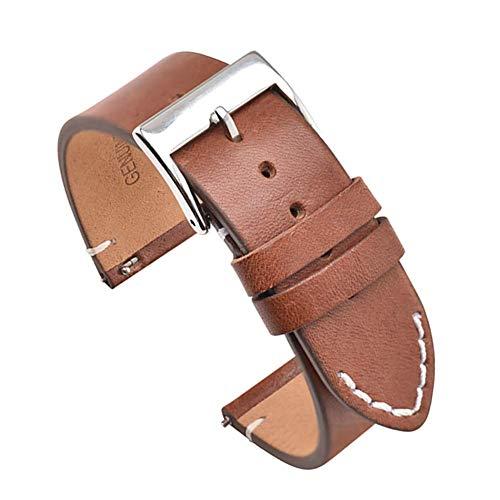 Cinturini per orologi in vera pelle marrone chiaro a sgancio rapido 12mm 14mm 16mm 18mm 20mm 22mm 24mm Cinturino per orologio