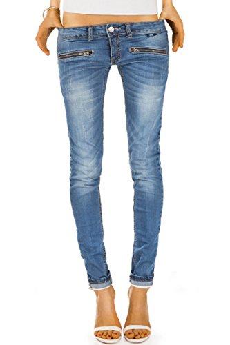 Bestyledberlin-Damen-Jeans-Hosen-Hueftjeans-j03i-36S-Blau