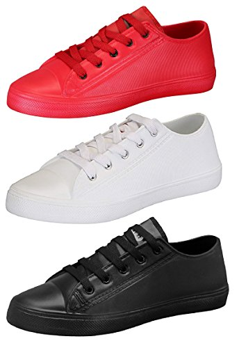 Chevit Men's Combo Pack Of 3 Casual Sneakers - Tr-144+145+146-7 (Red & White & Black)