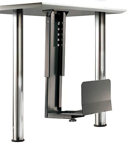 ROLINE PC Halterung   Computerhalterung Untertisch   Tischhalterung in schwarz