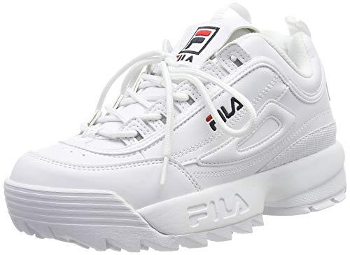 Fila Disruptor Low Wmn 1010302-1fg, Scarpe da Ginnastica Basse Donna, Bianco (White 1010302/1fg), 37 EU