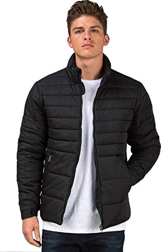 Ben Martin Men's Quilted Nylon Jacket (Black,XX-Large)