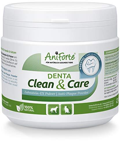 Denta Clean & Care Powder 300g. para Perros y Gatos | Producto Natural para el Cuidado de Dientes | Dientes Blancos, Aliento Fresco, Prevención de Placa | Formula Mejorada | AniForte