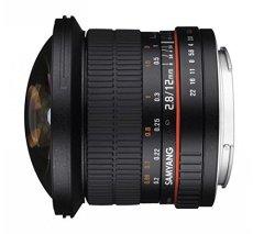 Samyang F1112106101 - Objetivo fotográfico DSLR para Sony E (Distancia Focal Fija 12mm, Apertura f/2.8-22 ED AS NCS, Ojo de Pez), Negro
