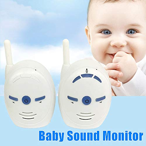 Audio only Baby Monitor V20 2.4GHz Wireless Infant Baby Sound Monitor Portable Audio Walkie Talkie.