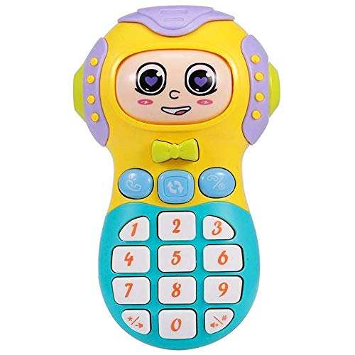 Shanaya New Smart Musical Changing Face Mobile Phone for Kids, Early Education Toys with Music and Lights