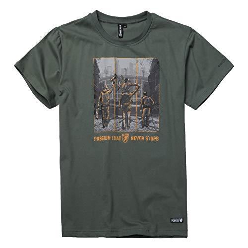 PGwear-Herren-T-Shirt-Passion-That-Never-Stops-schwarz-Olive