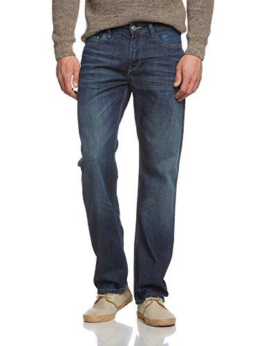 Cross-Jeans-Herren-Relaxed-Jeanshose-New-Antonio-Gr-W31L32-Blau-True-Dark-Blue-Used-050