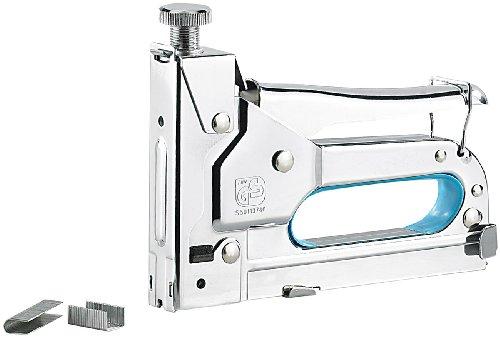 AGT Tacker: 3in1-Handtacker mit 600-teiligem 8 mm Klammer-Sortiment (Nagler)