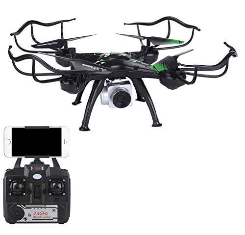 Drone di Ritorno Automatico, Drone FPV RC con videocamera HD WiFi, modalità Headless, Hold di altitudine, One Key decollo/atterraggio, Quadcopter RC Pieghevole con Controllo App,Black