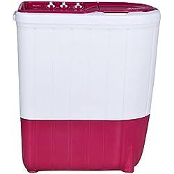Whirlpool 6 kg Semi-Automatic Top Loading Washing Machine (SUPERB ATOM 6.0, Tulip Pink, TurboScrub Technology)