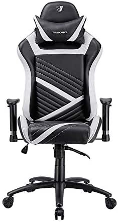 Tesoro F700 Zone Speed Gaming Stuhl Bürostuhl mit Kunstlederbezug Weiß/White