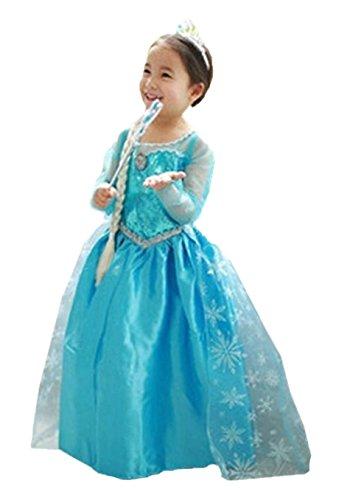 UK1stChoice-Zone Filles Princesse Reine des Neiges Robe de Soirée Partie  Costumée Déguisements d85f4095438d