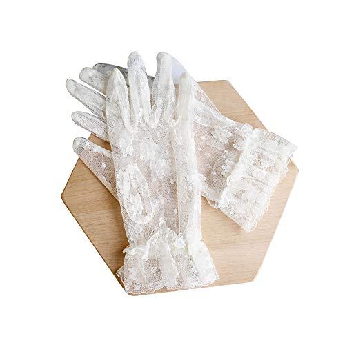 AAGOOD Sposa guanti in pizzo da sposa ricamato brevi guanti della maglia vestito da sposa Guanti...