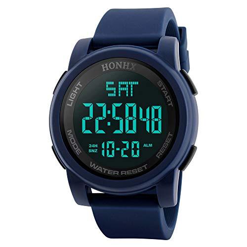 Reloj de Hombre, ZODOF Moda Hombres LED táctil Pantalla día Fecha Silicona Pulsera Reloj Digital LED Reloj Touch